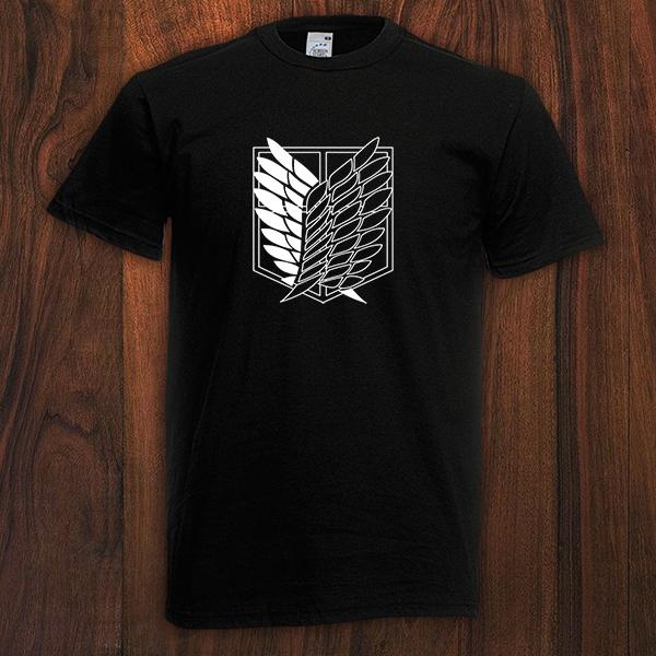 KJYAYA Camiseta Unisex Attack On Titan Camiseta con Logo De Anime Top De Manga Corta Transpirable De Secado R/ápido Regalos para Fan/áticos
